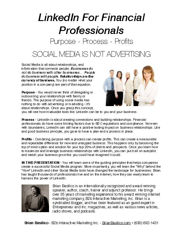 LinkedIn For Financial Professionals
